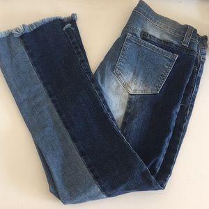 Patchwork Denim Stretch Jeans